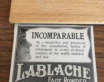 LaBlanche face powder ad circa 1905 2 1/2 x 2.