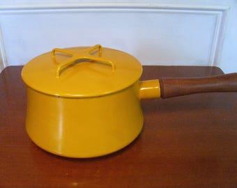 Vintage 1950's/1960's  Yellow Dansk Pot w/Trivet Lid