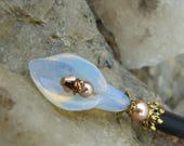 CIJ SALE Calla Lily Hair Stick Opalite Glass Flower Hair Sticks Crystals and Pearls Floral Hairstick Kanzashi Hair Pins Chopsticks Hair Pic