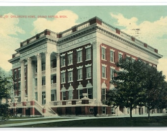 Children's Home Grand Rapids Michigan 1915 postcard