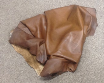 WC16.  Oxford Brown Distressed Leather Lambskin