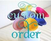 Custom Order for Nancy: Medium Purple Paper Flower Bouquet