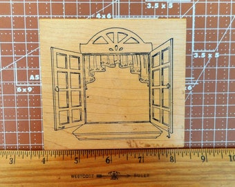 Open Window Rubber Stamp from Art Impressions 1996 No.Q-1502
