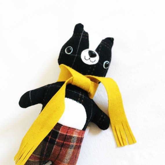Skunk Animalpants in Yellow Scarf  - READY TO SHIP