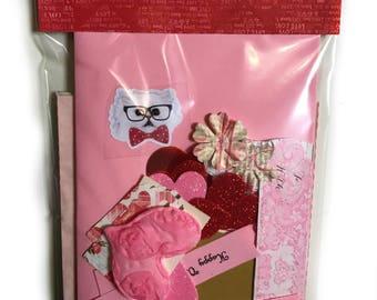 Valentine Card Making Kit Valentine Ephemera Pack Over 60