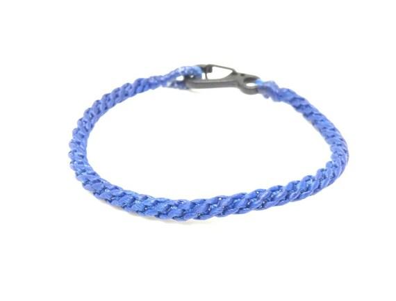 Fair Trade Classic Royal Blue Cotton Handcrafted Thai Buddhist Wristband Bracelet