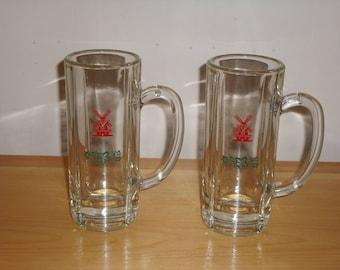 Vintage-Heineken-Beer-Mugs-Set-of-Two-and-2-Free-Swizzle-Sticks