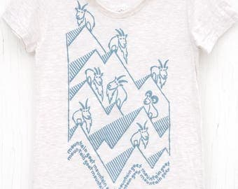 Silly Ladies Silk Screened Graphic Tee - Mountain Goat Mountain Goat
