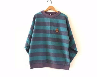 STRIPED pullover sweater XL