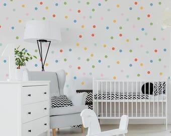 Vinyl Wall Sticker Decal Art - Mini Rainbow Dots