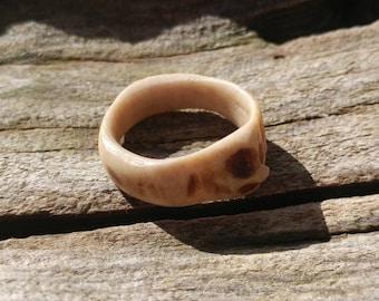 Handmade Deer Antler Ring Size 8