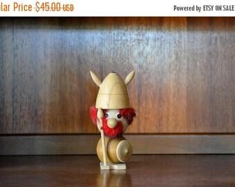 CIJ SALE 25% OFF vintage midcentury viking figurine