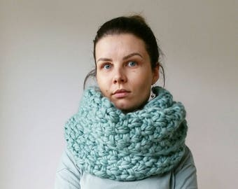 Oversized Knit Scarf Double Snood