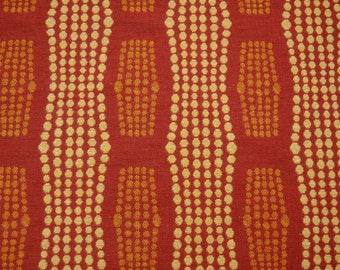 Red Gold Dots Fabric