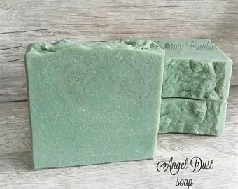 ANGEL DUST goat milk soap - light floral aroma with silk and shea butter - made by Bonny Bubbles