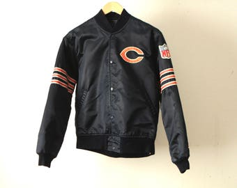 vintage CHICAGO BEARS 80s 90s STARTER brand nfl football super bowl jacket