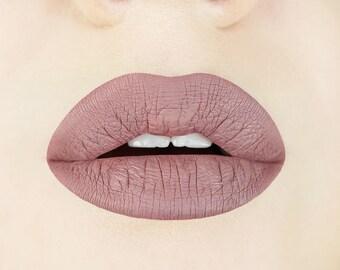 Desert Taupe Liquid Lipstick.  Grey. Beige. Greige. Matte Lipstick. Nude. Vegan. Cruelty-free. Makeup. Cosmetics. Gluten-free. Gift for Her.
