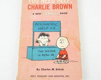 Vintage Peanuts Comic Book- 1960s Paperback- You Need Help, Charlie Brown