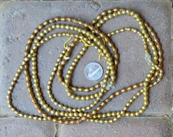 ON SALE African Brass Bicones 3 Strands