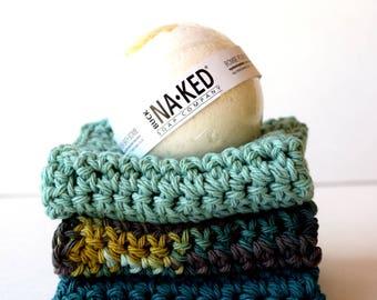 Teal - Riffic  Wash Cloths, Wash towels, Crochet, Crocheted, Handmade, Hostess gift, Housewarming gift, Handcrafted,  Teal, Blue-green, Aqua