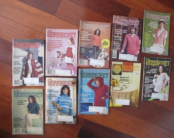 WORKBASKET 1979 (10) craft Magazine LOT