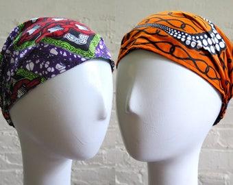 Pre-tied Bandana, Wide Headband, Scarf Headband, REVERSIBLE Boho Headband, Women Hair Accessory -  Hair Scarf Yoga Headband - Headwrap