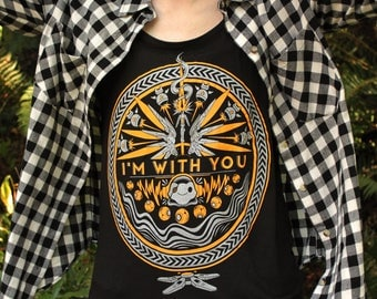 I'm With You Tank Top: Women's Tank Top in Black