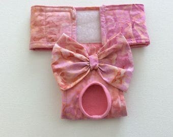 Female Dog Diaper / Panties - Nappies - Britches - Pink and Coral Batik - Available in all Sizes