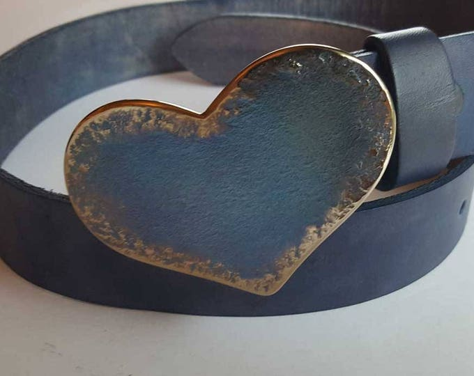 "HEART Belt Buckle Love Gift Sweet Heart Shaped Buckle Sweet 16 Gift Hypoallergenic Accessories, Original Buckle Fits 1-1/2"" Belt for Jeans"