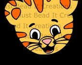 Daniel Tiger Head Inspired SVG Cut File