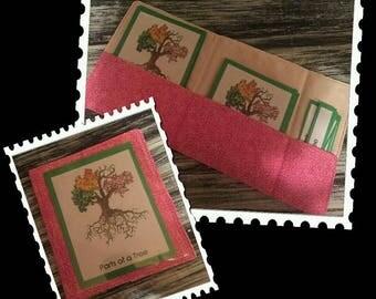2 or more 3 Part Card Cloth Pouches Montessori / 3 Part Card Fabric Pockets Montessori