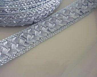Moroccan trim, pale blue art silk , woven, 5 metres