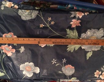 "Fabric,Chintz,54""x 8yds, remnant, Polished Cotton, Vintage,Material,Upholstery, Curtain"