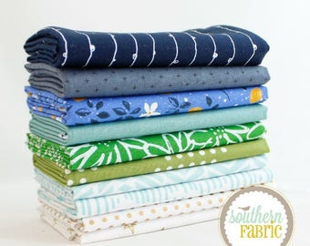 """Emily Dennis - Fat Quarter  Bundle - 10 - 18""""x21"""" Cuts - by Mixed Designers for Southern Fabric"""