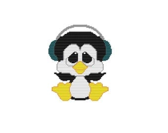 Plastic Canvas My Pal Musi-Cool Penguin Wall Hanging PDF FORMAT Instant Download