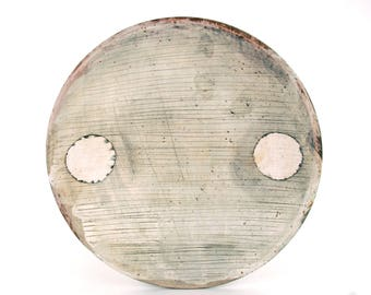 Dinner Plate with White Circles
