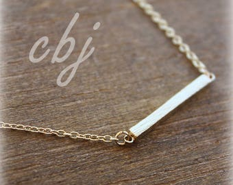 Gold Bar Necklace, Choker Gold Bar Necklace, Minimal Jewelry, Choker Necklace, Gold Bar Necklace, Minimal Necklace, Minimal