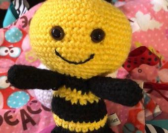 "Baby Bee stuffed toy , children 5 1/2"" tall children's stuffed toy"