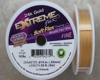 Soft Flex 24K Gold Fine Wire, 30 Foot Spool