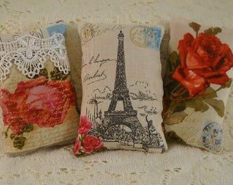 Lavender Sachets Paris Eiffel Roses French Market Free Shipping