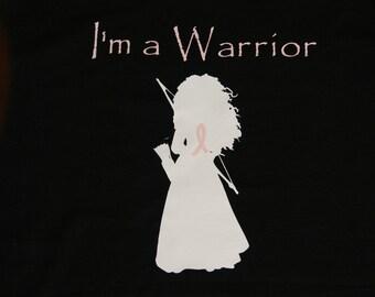 Warrior Tee Shirt, Breast Cancer Tee Shirt, Pink Ribbon Tee, Fighting Cancer, Unisex Shirt, Sizes S-3XL