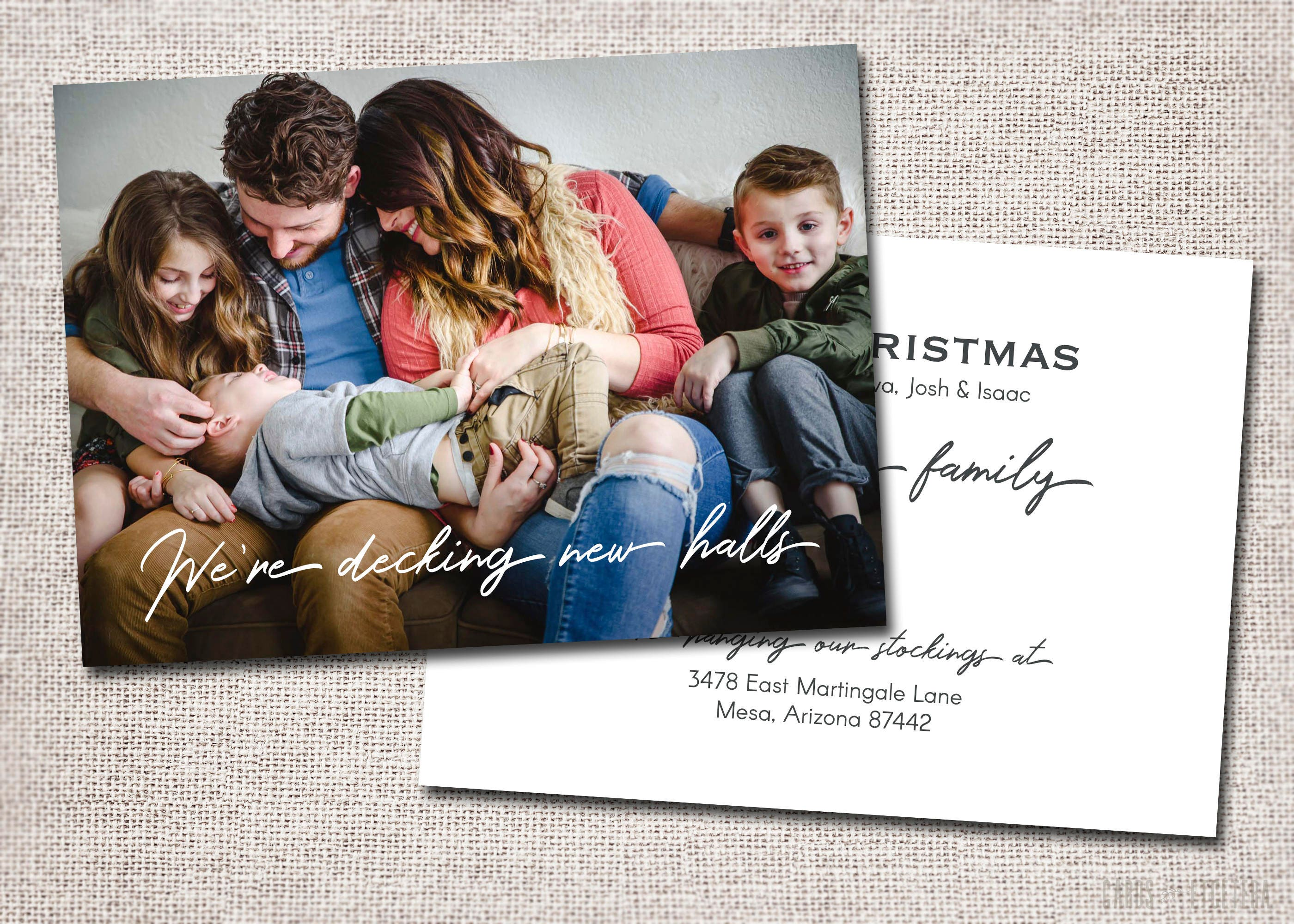 We Moved Holiday Card. printable custom moving announcement change ...