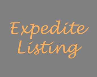 Expedite Listing - Holiday Gift Expedite - Priority Order - Art Gift - Custom Art - Expedite Order