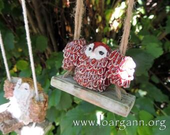 Tiny swinging owl #6