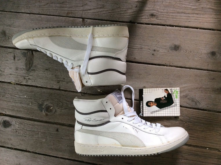 deadstock 1980s Ralph Sampson signiture leather Puma hi tops size 12 new with tags