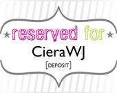 CieraWJ: Deposit for Custom Modern Floral Wedding Invitations