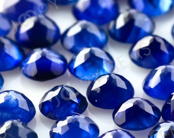 Blue Sapphire Rose Cut Cabochon 3mm round - 1 cab