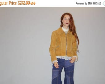 45% Off FLASH SALE - Vintage 1960s Honey Mustard Tan Golden  Suede Coat - Vintage 60s Suede Coats - Brown Suede Coat - WO0720