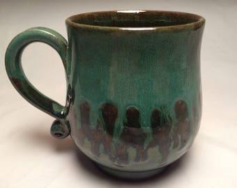 Green Drippy Mug