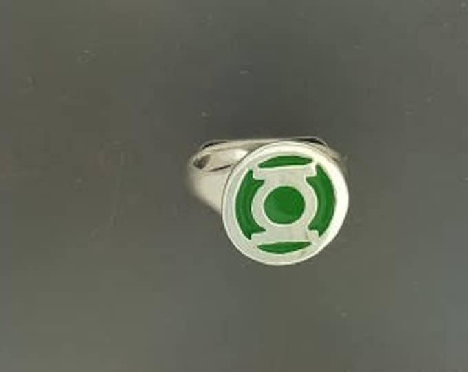 Green Lantern Ring in Sterling Silver